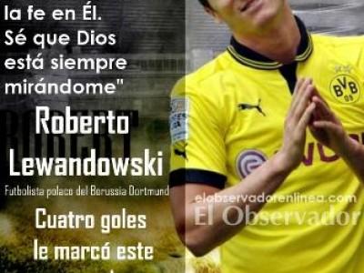 Lewandowski, cuatro goles al Real Madrid: «Soy católico y no me avergüenzo de Jesús»