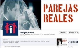 Parejas Reales llega a 23,564 mil seguidores defendiendo el matrimonio en Facebook