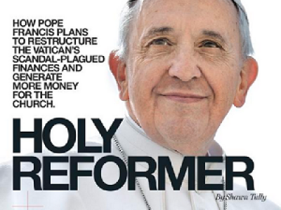 Francisco, portada de «Fortune» por un artículo que desmonta mitos sobre los dineros del Vaticano