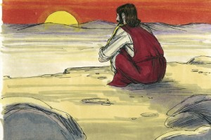 «El Espíritu lo fue llevando por el desierto, mientras fue tentado»