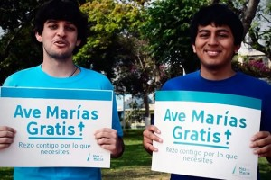 Avemarías gratis: una propuesta de jóvenes para evangelizar por la calle
