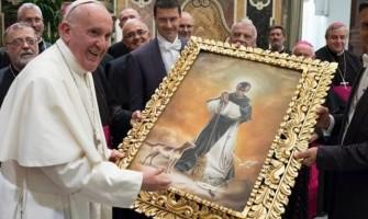 El Papa hizo esta broma al recibir cuadro de San Martín de Porres de Obispos del Perú