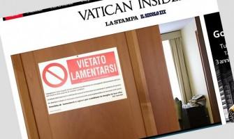 """La puerta del departamento del Papa tiene un cartel: """"Prohibido quejarse"""""""