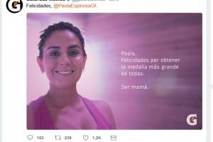 Gatorade felicita a una medallista olímpica por ser madre: «La medalla más grande de todas»