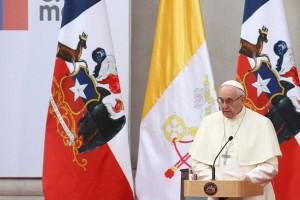 El Papa Francisco pide perdón en su primer discurso en Chile
