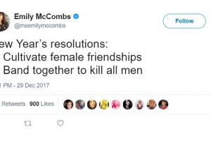 """""""Matar a todos los hombres"""": La resolución de Año Nuevo de una periodista feminista"""