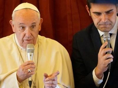 """""""Yo no dejo entrar porque no tengo lugar, pero hay otro países"""", Papa Francisco."""